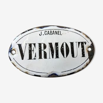 Small enamelled plate J.Cabanel Vermout