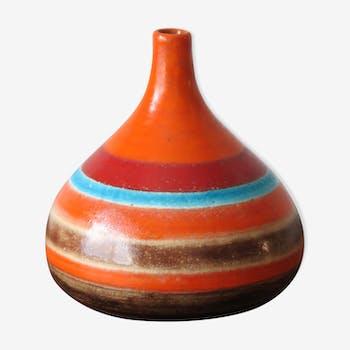 Vase en céramique par Bruno Gambone Italie , années 1960