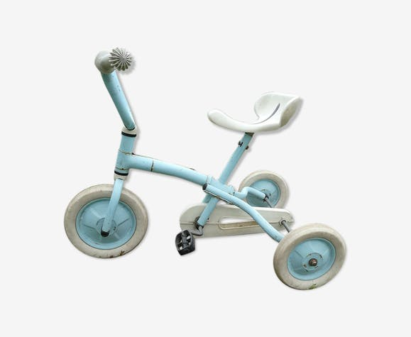Tricycle enfant vintage bleu années 80