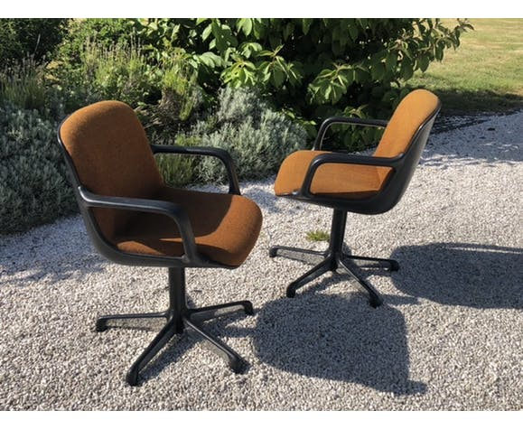 Paire de fauteuils Charles Pollock
