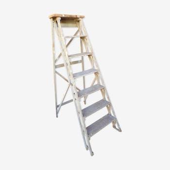 Ancient wooden stepladder