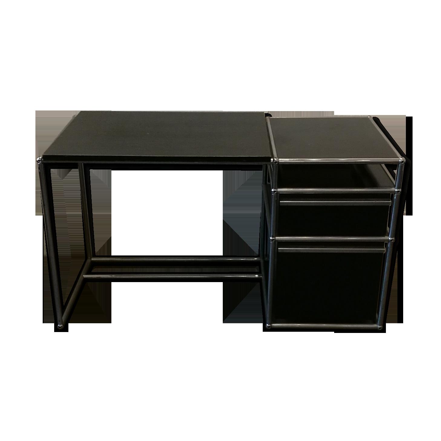 Bureau noir usm haller métal noir vintage vxgpzw