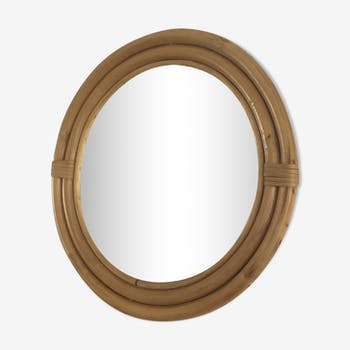 Rattan mirror 38cm