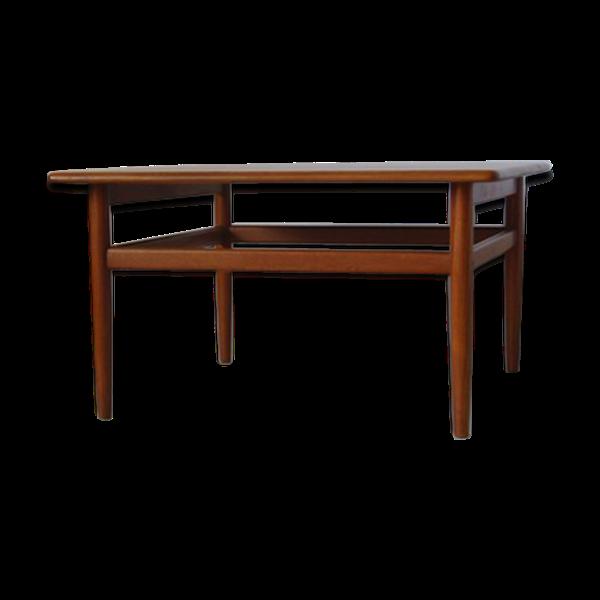 Table basse carrée en teck design Niels Bach