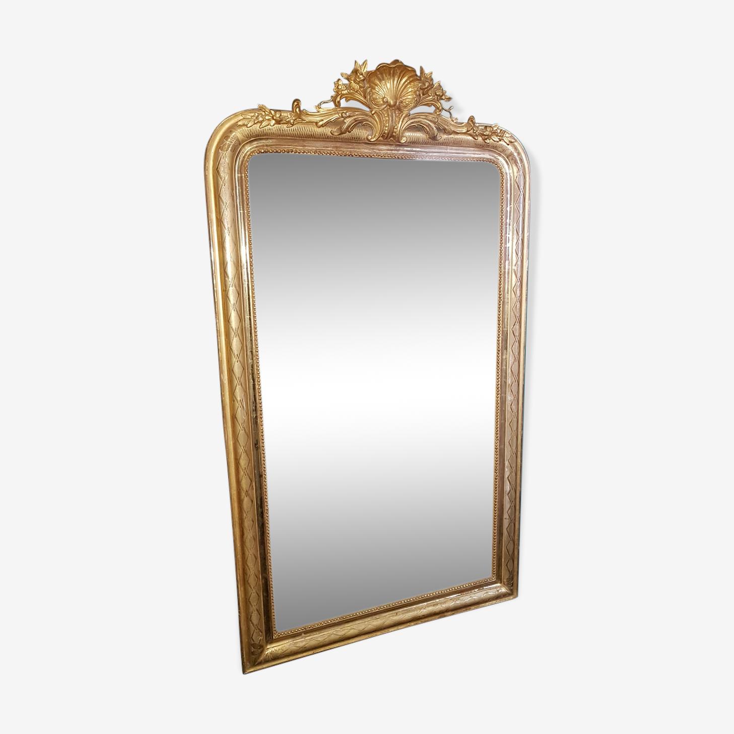Miroir Louis Philippe à coquille 84x148cm