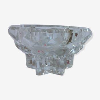 Bougeoir en verre vintage