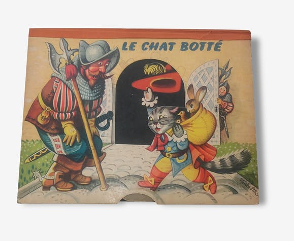 Le Chat Botte Pop Up Livre Anime Livre A Systemes 1959