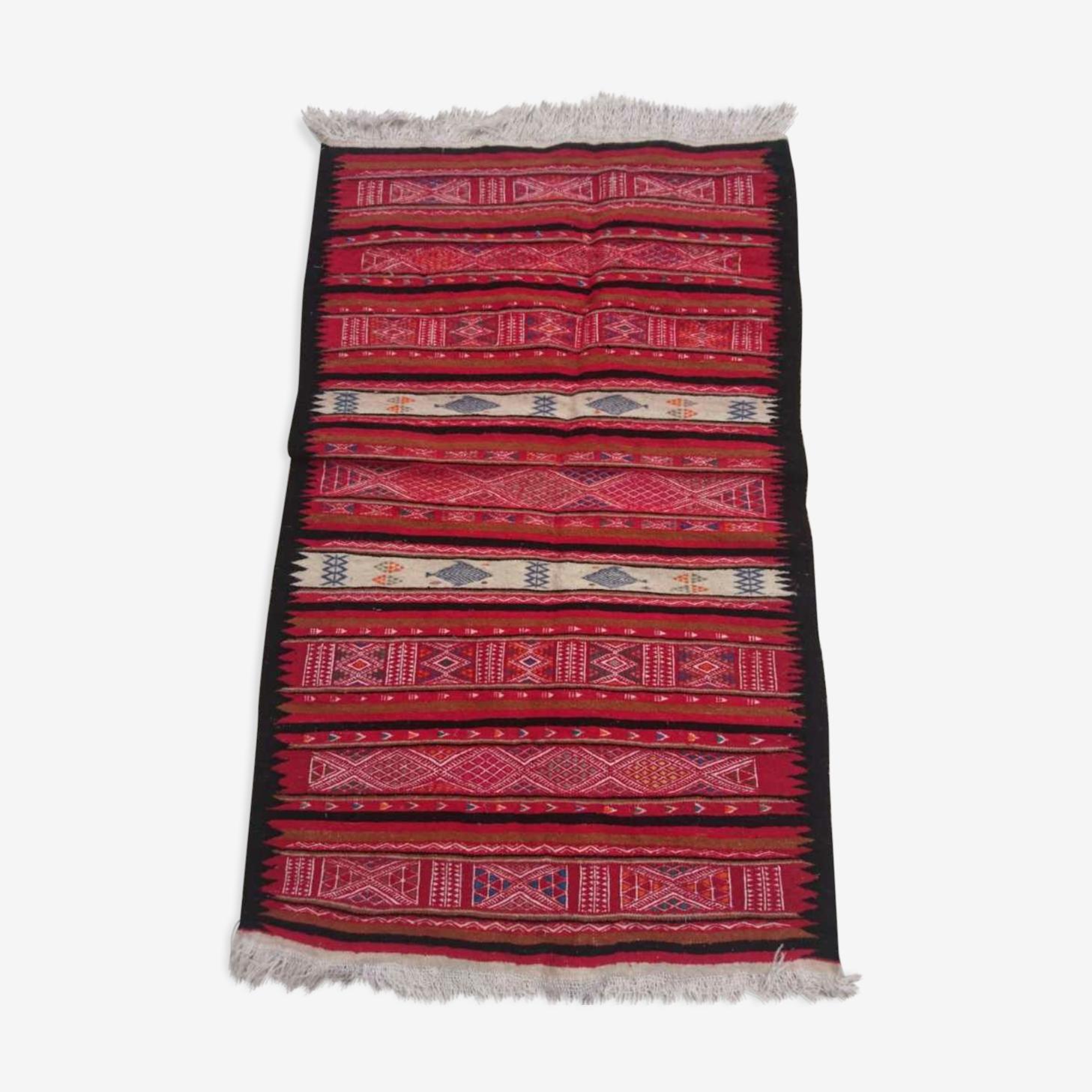 Kilim multicolore en laine 85x155cm