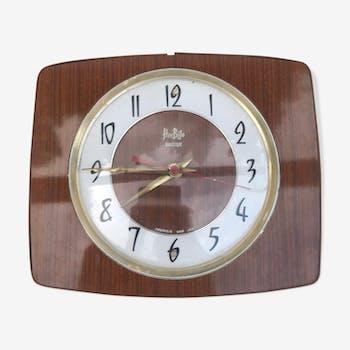 Pendule ancienne Horbilo jaz en formica des années 70 vintage