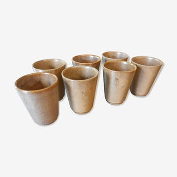 Lot of 7 sandstone cups emailed