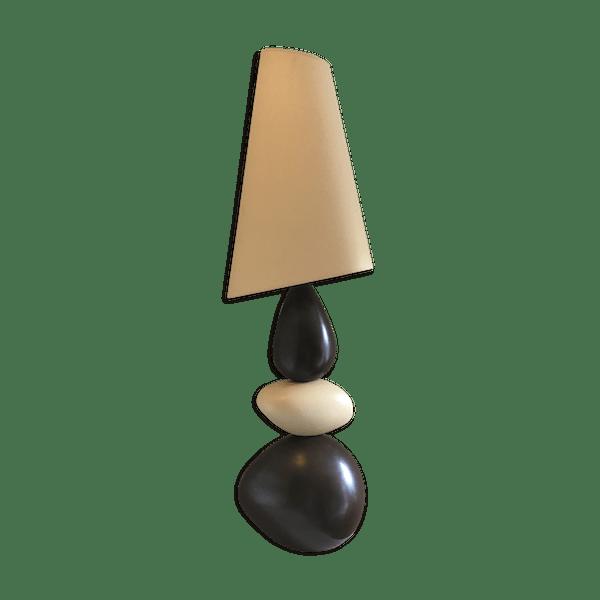 CéramiquePorcelaineamp; À Lampe Multicolore État Drimmer Design Galet Poser Bon 7rsmh61 Faïence KlJ1cF
