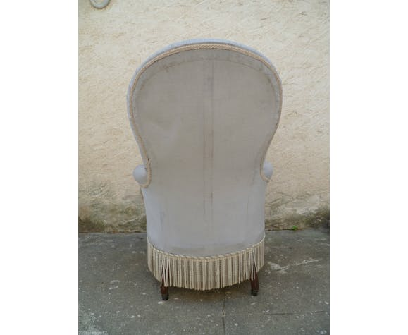 Voltaire or Louis XV style Fireside Chair