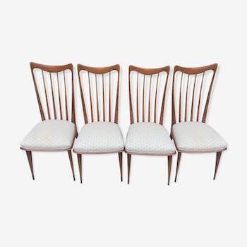 Suite de 4 chaises des années 60