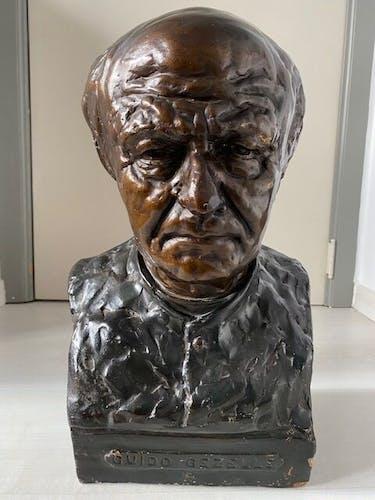 Buste Guido Gezelle 1921 en plâtre - poète flamand