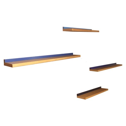 Etagères flottantes minimalistes en bois, 1980s