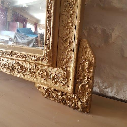 Miroir ancien doré 75x109cm