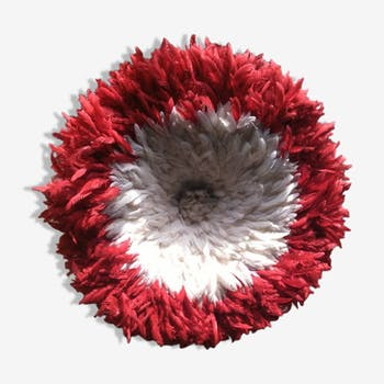 Juju hat white contour 50 cm Red