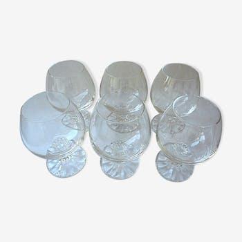 Suite de 6 verres à cognac en cristal de la maison Villeroy-&-Boch