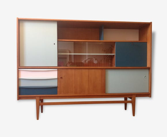 buffet vintage relook bois mat riau bois couleur vintage 146959. Black Bedroom Furniture Sets. Home Design Ideas