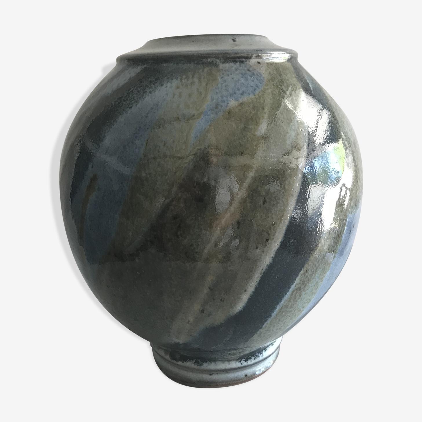 Vase bleu et vert