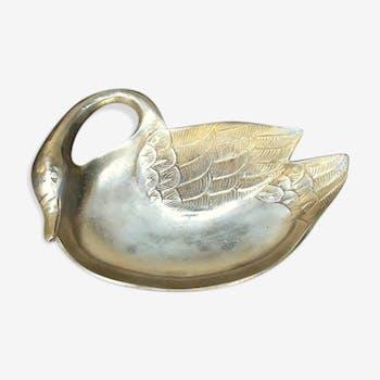 Empty pocket solid brass swan