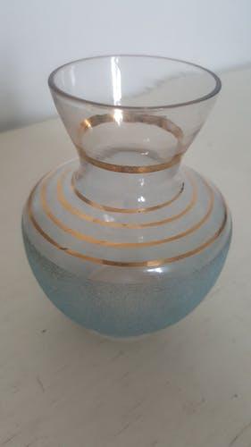Soliflore en verre avec dorures