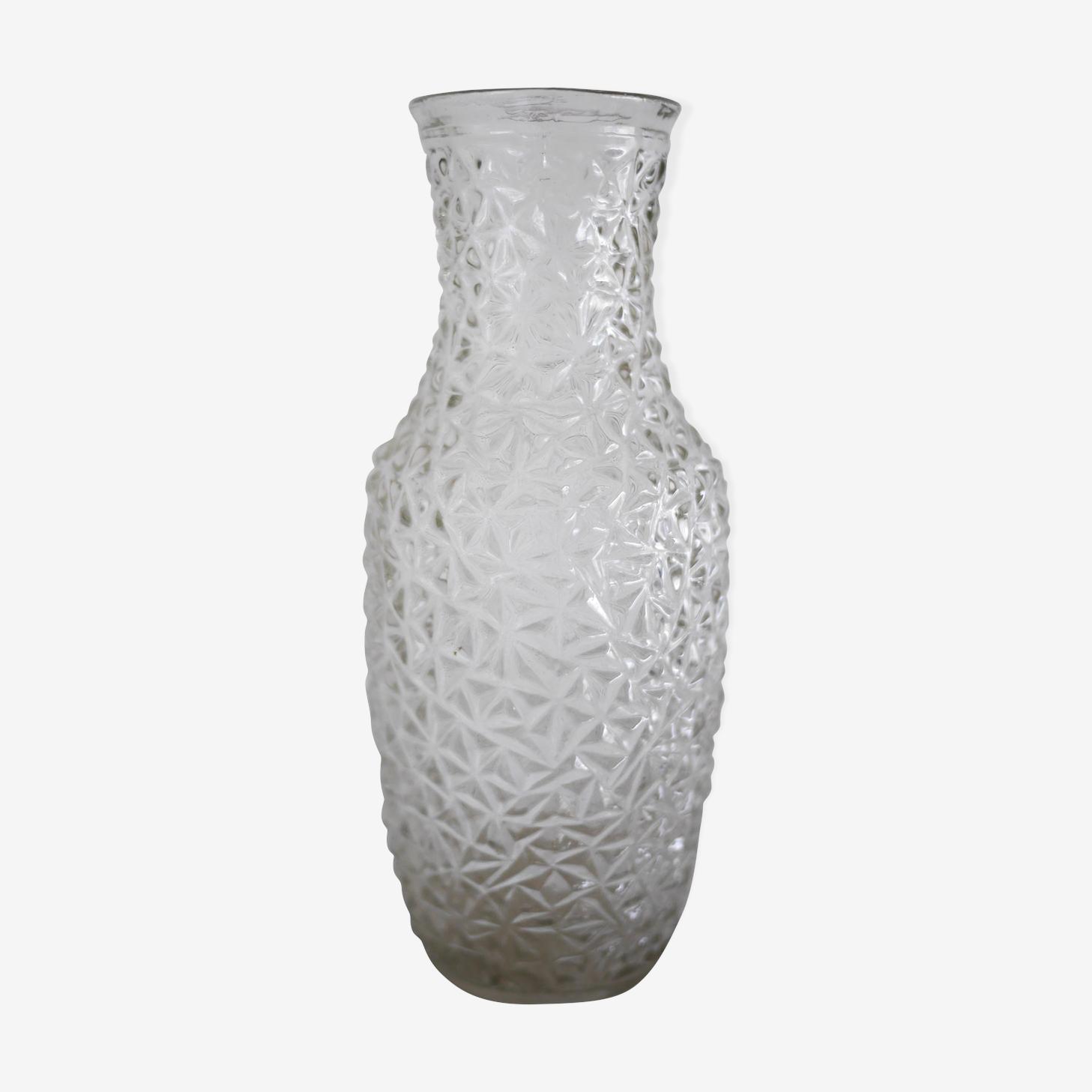 Molded glass vase