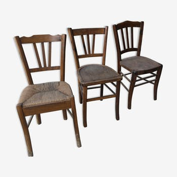 Set of 3 old chairs