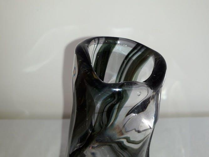 Free-form crystal vase