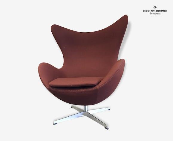 Arne Jacobsen Fritz Hansen Original By Egg Chair Fabric Brown