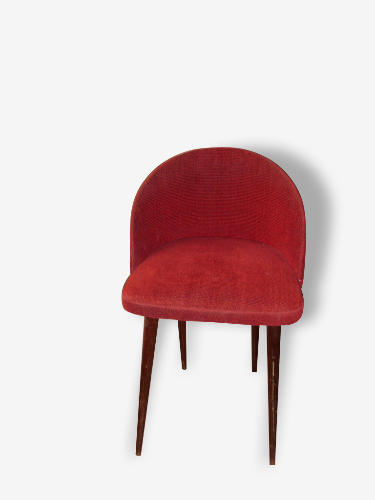 Chaise Cocktail Rouge 1960
