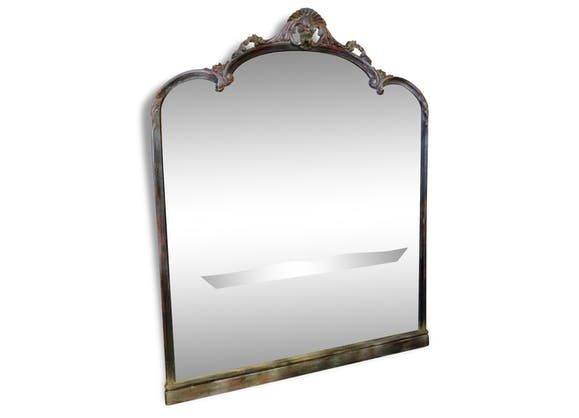 Grand miroir de bistrot d but xx me bois mat riau - Grand miroir original ...