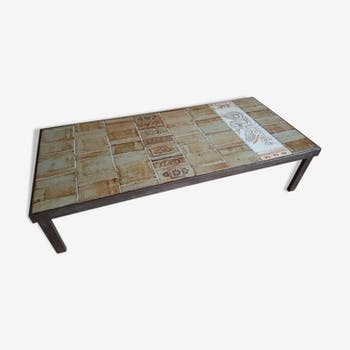 Table basse vintage d 39 occasion for Table basse grand format