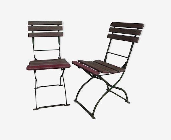 2 chaises de jardin