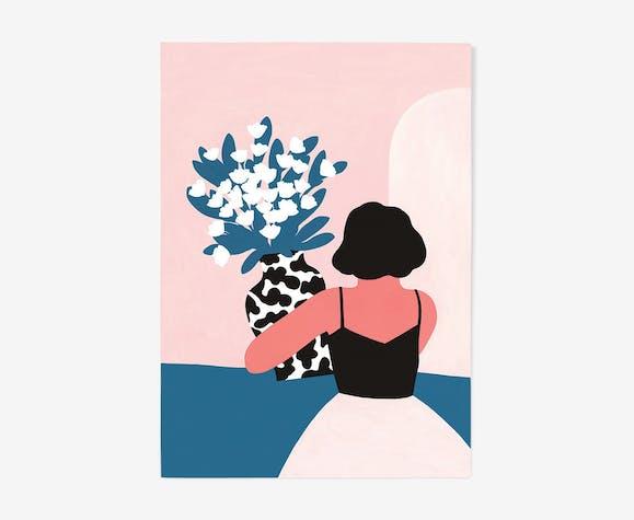 La dame aux fleurs