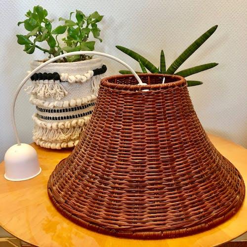 Vintage rattan pendant light