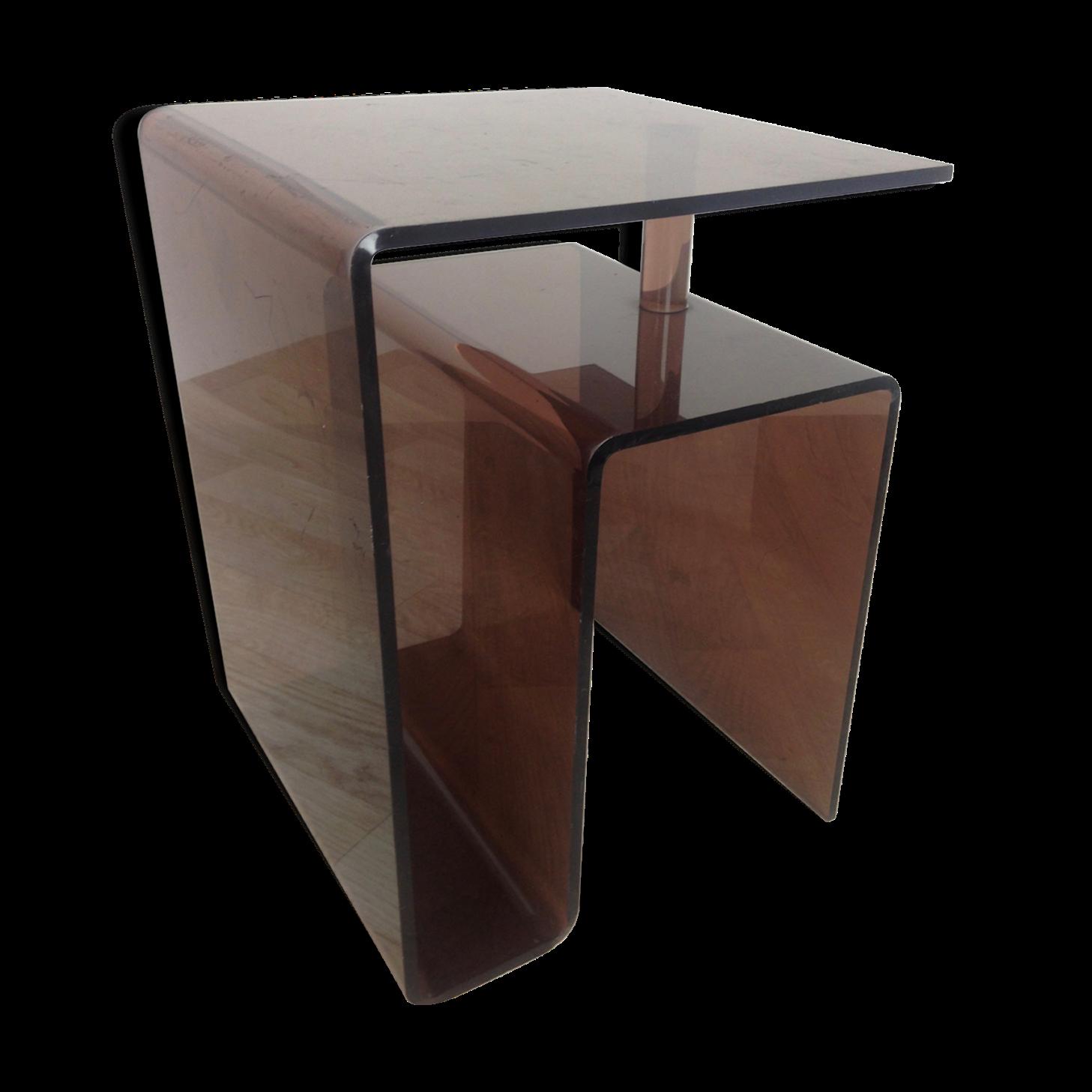 table chevet plexiglas amazing table de nuit plexiglas meuble dappoint carlo table chevet plexi. Black Bedroom Furniture Sets. Home Design Ideas