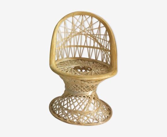 Chaise enfant fibre de verre Russell Woodard 1970 designer americain