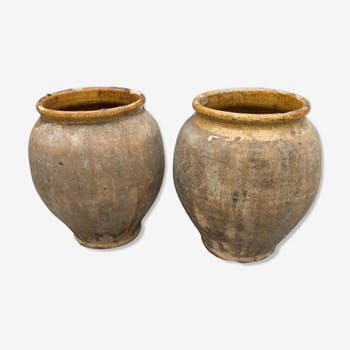 Set de 2 pots en terre cuite