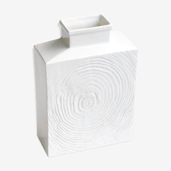 Sgrafo Modern white porcelain vase, 1960s