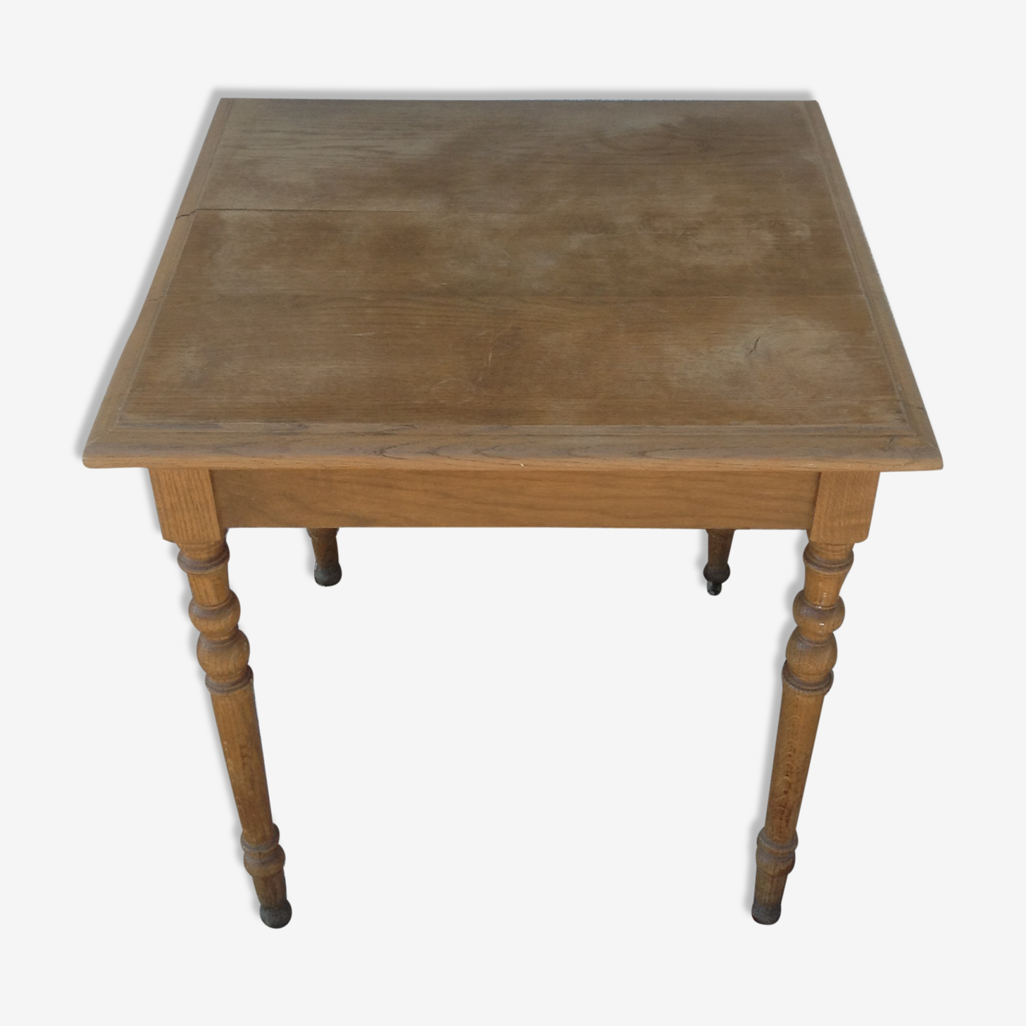 Square solid oak table
