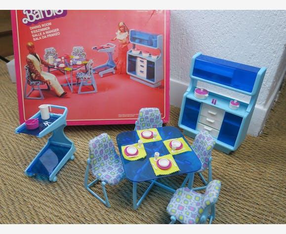 Salle à manger Barbie Vintage Ref 2152 avec sa boite - plastique ...