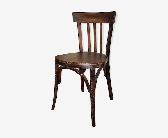 Chaise ancienne de bistrot en bois