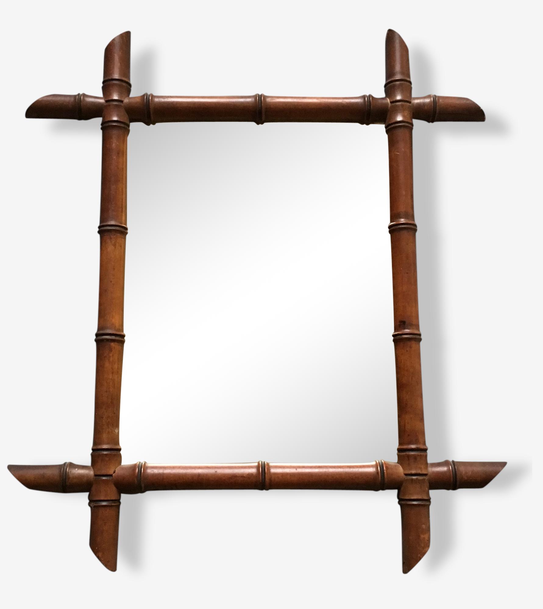 Miroir bois façon bambou