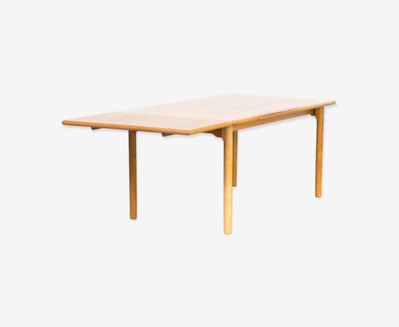 Kurt Østervig oak drop leaf dining table for KP Mobler 1970