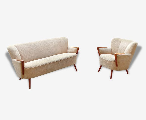 Set 1 1 Scandinavian sofa couch chairs Danish 50s 60s