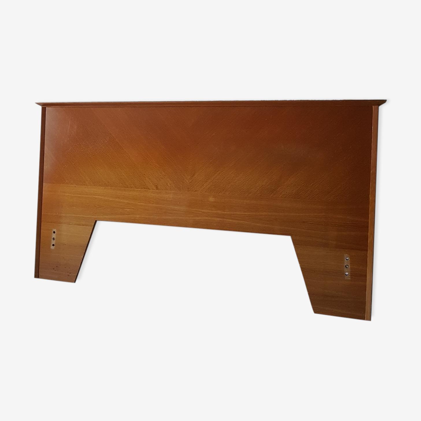 Tete de lit en chêne doré bois années 50 vintage