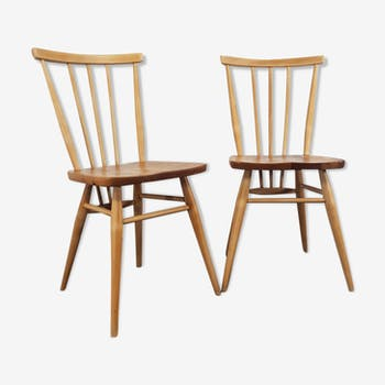 Two mid century windsor chairs by Lucian Ercolani for Ercol, 1960s