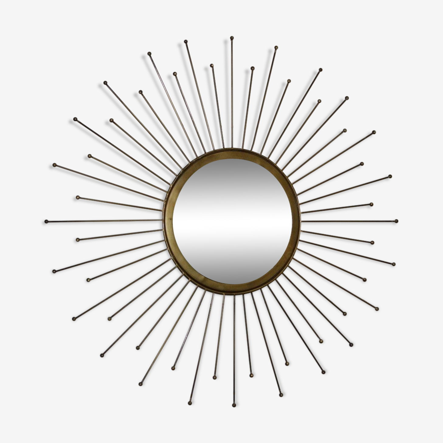 Sun brass mirror 60x60cm