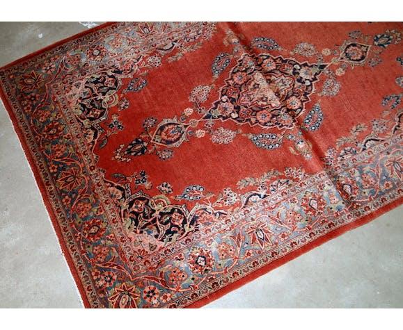 Tapis ancien Persan Sarouk fait main 103 x 161cm 1910s - 1B832